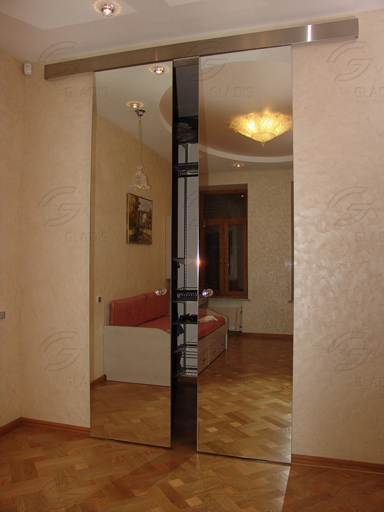 Стеклянные раздвижные межкомнатные двери для частных домов, .